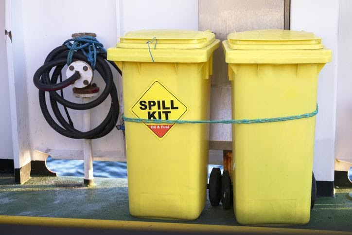 Chemical spill kit bins: All chemical spills should be cleaned up immediately and disposed of appropriately. Source: