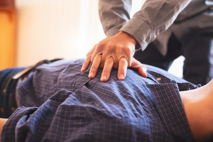 CPR should be performed when a person shows no signs of life
