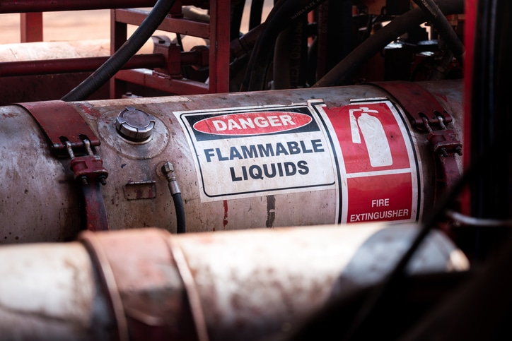 Flammable chemicals must be stored properly to avoid fire and explosion