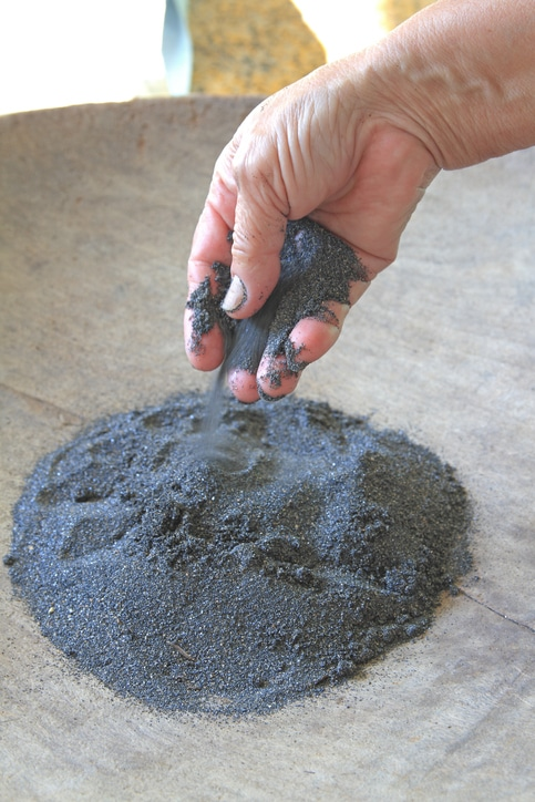 Tungsten powder can become airborne and more prone to being a safety hazard
