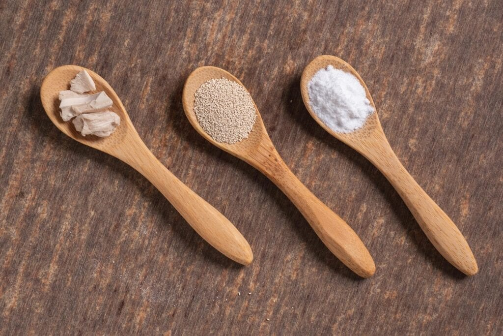 There are various types of leavening agents you can use when baking.