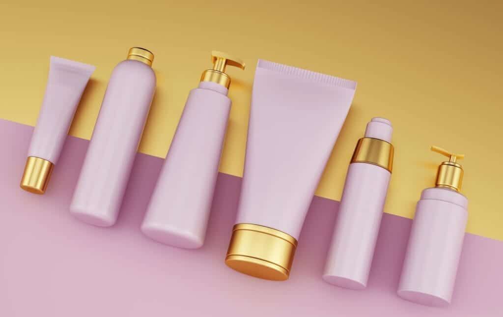 Many personal care products contain parabens and sulphates.