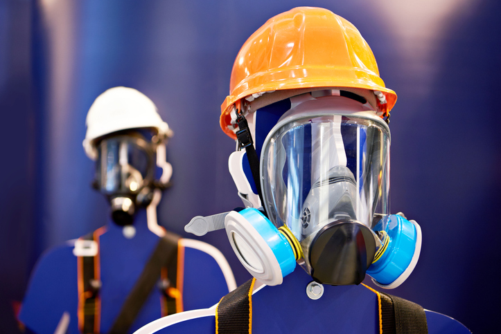 A respirator is particular important when dealing with the Hexamine vapours
