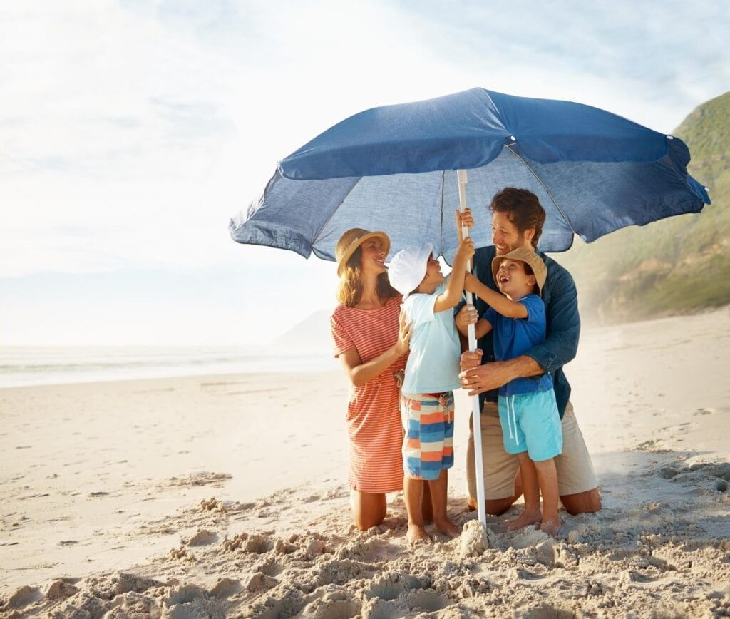 Grab a hat, cover with clothing, and seek shade to stay sun-safe rather than relying on UV-absorbing sunscreens.